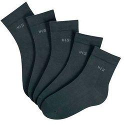 Krótkie skarpetki H.I.S (5 par) bonprix czarny