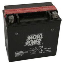 Akumulator motocyklowy Moto Power CBTX14-BS YTX14-BS 12V 12Ah 200A EN L+