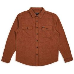 koszula BRIXTON - Bowery Solid LS Flannel Clay (CLAY) rozmiar: M