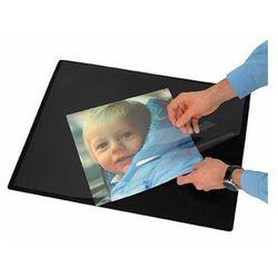 Podkładka na biurko z przezroczystą folią Q-CONNECT, 63x50cm, czarna