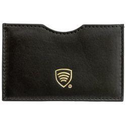 ✅ Etui ze Skóry Blokujące Kartę Kredytową Płatniczą Zbliżeniową RFID - Czarny połysk