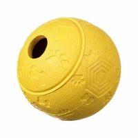 Piłki dla dzieci, Piłka kauczukowa na przysmaki M - yellow