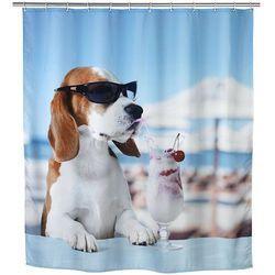 Zasłona prysznicowa COOL DOG, tekstylna, 180x200 cm, WENKO