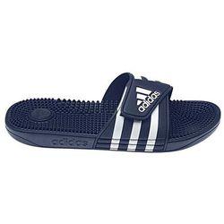 adidas Adissage klapki Mężczyźni, dark blue/ftwr white/dark blue UK 9 | EU 43 1/3 2020 Akcesoria do pływania