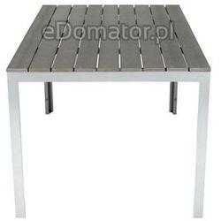 Meble ogrodowe składane aluminiowe MODENA Stół i 6 krzeseł - Srebrny - Srebrny Zestaw Modena (-20%)