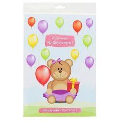 Karnet na roczek dla dziewczynki, Drzewko Życzeń, Moje 1 urodziny