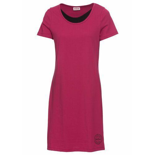 Suknie i sukienki, Sukienka shirtowa z bawełny bonprix jeżynowy