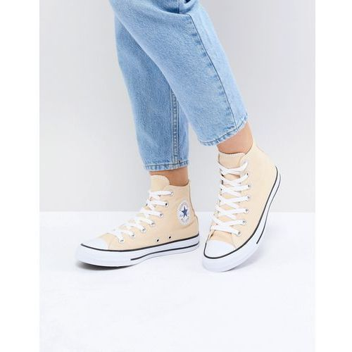 Damskie obuwie sportowe, Converse Chuck Taylor All Star Hi Trainers In Yellow - Yellow