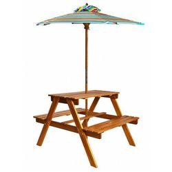 Dziecięcy stolik piknikowy z parasolem - Talis