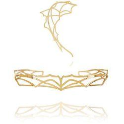 Komplet nausznica i bransoletka złoto