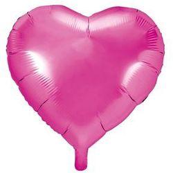 Balon foliowy Serce ciemnoróżowe - 45 cm - 1 szt.