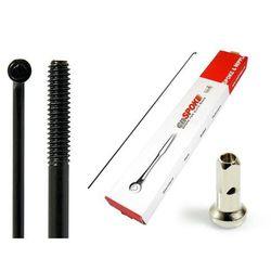 Szprychy CNSPOKE STD14 2.0-2.0-2.0 stal nierdzewna 298mm czarne + nyple 144szt.