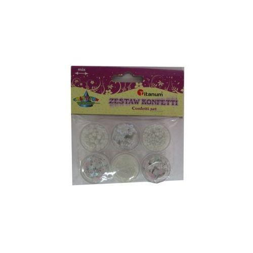 Kreatywne dla dzieci, Zestaw dekoracyjny konfetti. 6 wzorów. 339367. - Titanum
