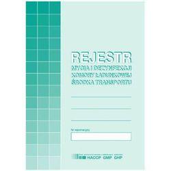 Rejestr mycia i dezynfekcji komory ładunkowej środka transportu MiP H91-3 A5