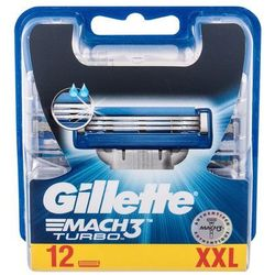 Gillette Mach3 Turbo wkład do maszynki 12 szt dla mężczyzn