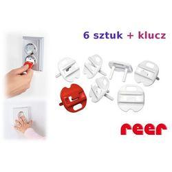 Zabezpieczenia gniazdek zaślepki 6szt + klucz REER