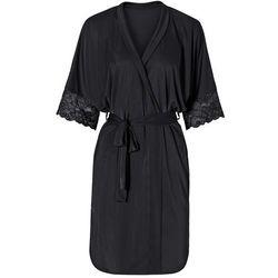 Szlafrok kimono bonprix czarny
