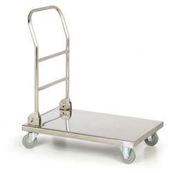 Składany nierdzewny wózek platformowy, 250 kg, platforma 720x410 mm