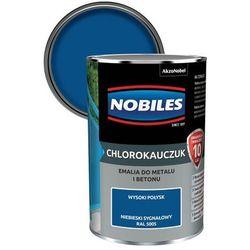 Emalia chlorokauczukowa Nobiles do metalu i betonu niebieski sygnałowy 0,9 l