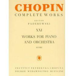 Chopin Complete Works XXI Utwory na fortepian i orkiestrę (opr. miękka)