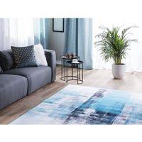 Dywany, Dywan niebieski 140 x 200 cm krótkowłosy TRABZON