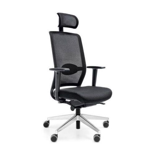 Fotele i krzesła biurowe, Fotel Veris Net 111 SFL NX16 czarny bez podłokietników