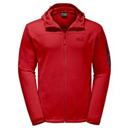Kurtka polarowa CASTLE ROCK HOODED JACKET - ruby red