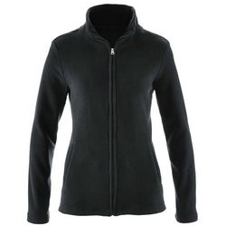 Bluza rozpinana z polaru z wpuszczanymi kieszeniami bonprix czarny
