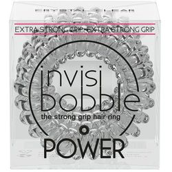 Invisibobble Power Hair Ring gumka do włosów 3 szt dla kobiet Crystal Clear