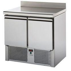 Stół chłodniczy sałatkowy 2-drzwiowy, blat roboczy z rantem, 0,28 kW, 904x700x980 mm | GRAFEN, SL02AL