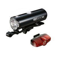 Oświetlenie rowerowe, 8900371 Zestaw lampek Cateye VOLT200XC i RAPID Mini USB