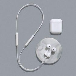 Baseus silikonowy uchwyt opaska pasek do słuchawek AirPods 2 / 1 biały (ARAPPOD-02)