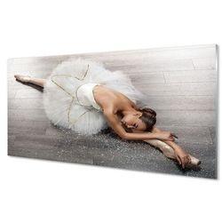 Obrazy na szkle Kobieta biała sukienka baletnica