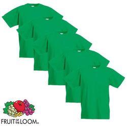 Fruit of the Loom 5 koszulek dla dzieci, 100% bawełny, zielonych, rozmiar 140 cm Darmowa wysyłka i zwroty