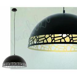 Lampa wisząca Eglo Savignano 97442 530 mm oprawa sufitowa 1x60W E27 czarny/biały