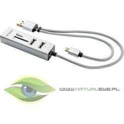 YENKEE Hub USB, Czytnik kart OTG YHC 102SR Slot SD,micro SD,3xUSB