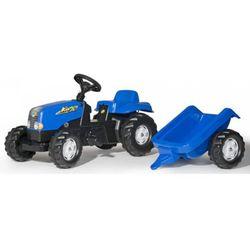 Rolly Toys traktor na pedały Rolly Kid z przyczepą niebieski