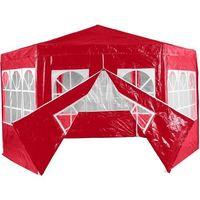 Namioty ogrodowe, CZERWONY PAWILON NAMIOT OGRODOWY HANDLOWY 6 ŚCIANEK - Czerwony 2451 (-15%)