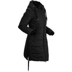 Płaszcz pikowany outdoorowy bonprix czarny