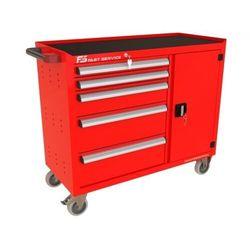 Wózek warsztatowy TRUCK z 5 szufladami i drzwiami PT-222-40