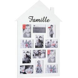 Ramka na 12 zdjęć, zdjęcia - multirama, w kształce DOMU 83 x 53 cm x 1 cm