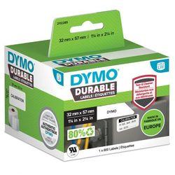 Oryginalne etykiety polipropylenowe DYMO LW 32mm x 57mm durable 1933084 białe/czarny nadruk