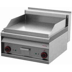 Płyta grillowa elektryczna | 1/2 gładka-1/2 ryflowana | 6000W | 600x700x(H)290mm