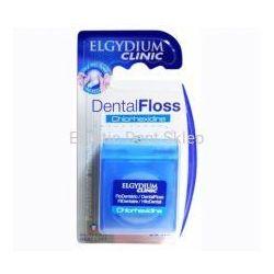 Elgydium DentalFloss Chlorhexidine 50 m - woskowana nić dentystyczna z antybakteryjną chlorheksydyną