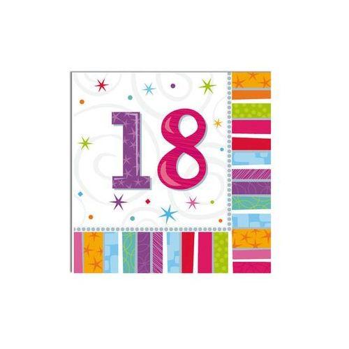 Pozostałe wyposażenie domu, Serwetki urodzinowe na osiemnaste urodziny - 18tka - 33 x 33 cm - 16 szt.