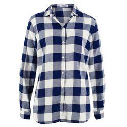 Koszula flanelowa bonprix kobaltowy w kratę