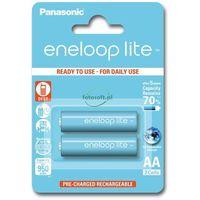 Akumulatorki, 2 x Panasonic Eneloop Lite R6/AA 950mAh BK-4LCCE/2BE (blister)