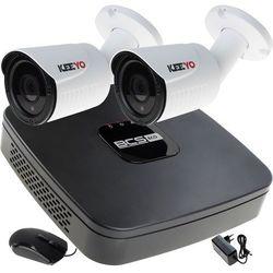 Zestaw Rejestrator IP BCS-NVR04015ME 2x LV-IP10IR25TF