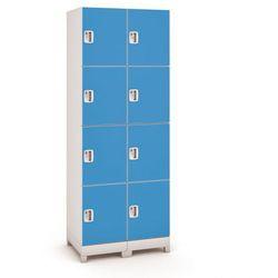Szafa z tworzywa sztucznego, 8 drzwi, niebieski