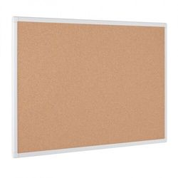 Tablica korkowa ANTI-MICROBIAL, 900 x 600 mm, biała rama